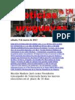 Noticias Uruguayas sábado 9 de marzo del 2013