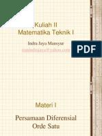 Kuliah 2-Matematika Teknik I