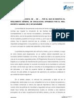 Proyecto reforma Reglamento Gral Circulación copia