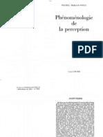 Ponty, Merleau - Phenomenologie de La Perception
