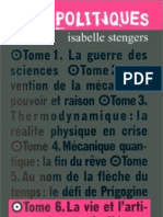 Isabelle Stengers La Vie Et l'Artifice 1997