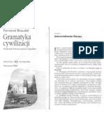 F. Braudel, Gramatyka Cywilizacji