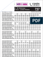 Green Line Timetable