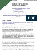 Charles J. Stivale -- G-M Summary of L'Abecedaire de Gilles Deleuze