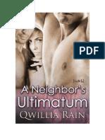 Qwillia Rain - A Neighbor's Ultimatum (PDF)