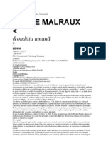 Andre Malraux Conditia Umana