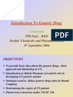 Introduction to Genric Drug