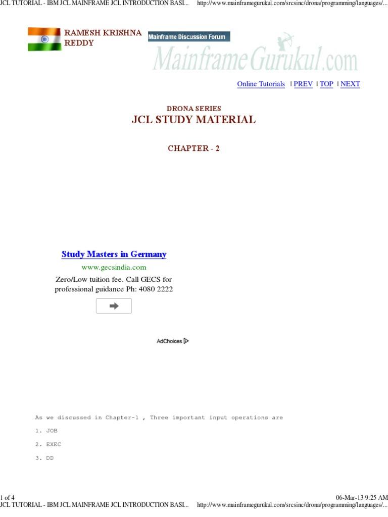 Jcl tutorial pdf download.