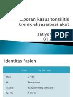 Tonsilofaringitis Kronis Eksaserbasi Akut