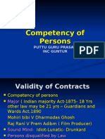 ch 2 competency of parties , consideration  and object