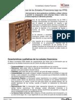 Clase - Características de los Estados Financieros bajo las IFRS