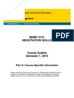 MGMT 3721 Course Outline (Part a) S1 2013