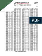 Tabela de Preços ZAP 03-2008 com Lista Zap Imports..