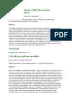 Allergy Abstract Oral Allergy Syndrome (OAS)