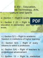 Article 14 - Education & 15 Family