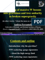 Scattering of massive W bosons into gravitinos and tree unitarity in broken supergravity