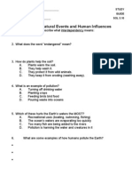 Natural Events and Human Influences Review