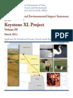 Volume Three, Appendices A to G, Keystone XL Pipeline Supplemental Environmental Impact Statement