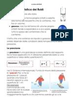 La statica dei fluidi