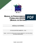 Manual Preenchimento ADA 2010 ADAWeb