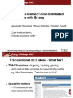 Building a transactional distributed data store with Erlang