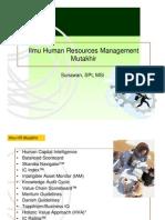 Perkembangan ilmu HRM