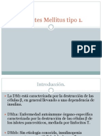 DM 1 epidemiología, fisiopatología y diagnóstico