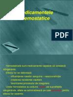 Curs 11 Hemostatice,Anticoagulante