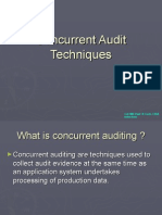 Concurrent Audit Techniques