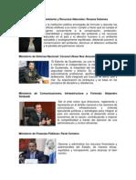 Ministerios y Ministros de Guatemala 2013