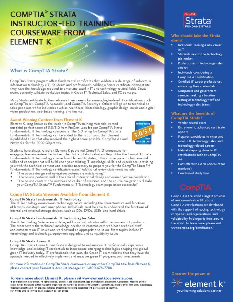 Slick Comptia Strata It Comp Tia Professional Certification