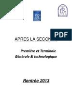 Brochure après la 2de - 2013