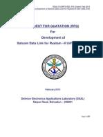 Development Of SATCOM Data Link for India's Rustom-II Unmanned Aerial Vehicle [UAV]