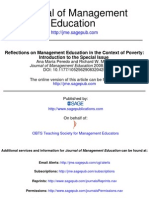 Reflections on Management Education in the Context of Poverty