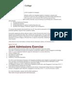 HCJC Admission Criteria