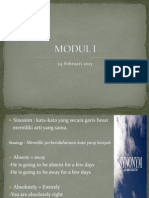 Modul 1 - MKDU4107 Bahasa Inggris I