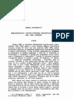 Bibliografija Jugoslovenske Orijentalistike 1961-1962