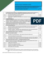 Cro Checklist