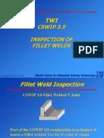 TWI CSWIP 3.0 Inspection of Fillet Welds
