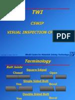 TWI CSWIP Visual Inspection of Weld
