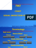TWI CSWIP Visual Inspection of Weld