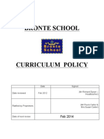 Curriculum Policy 2013