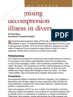 CUC Recognising Decompression Illness in Divers DR Fiona Sharp Mar09