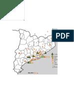 Distribució territorial de les colles castelleres segons gamma 2012-2013