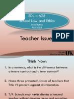 EDL 401 - Class 6 - Teacher Discipline