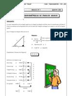 Guia 4 - Razones Trigonométricas de Ángulos Agudos