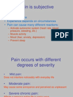 PAIN and its WOES