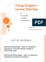 Journal Review - Stirling engine