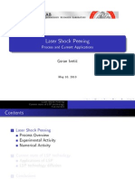 Laser Shock Peening Process and Current Application