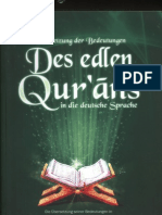 Überseteung der Bedeutungen Des edlen Qur'ans in die deutsche Sprache